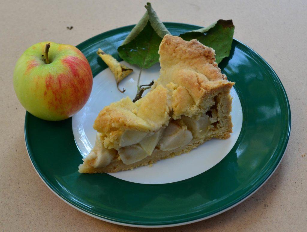gedeckter-Apfelkuchen-mit-Apfel-auf-Teller
