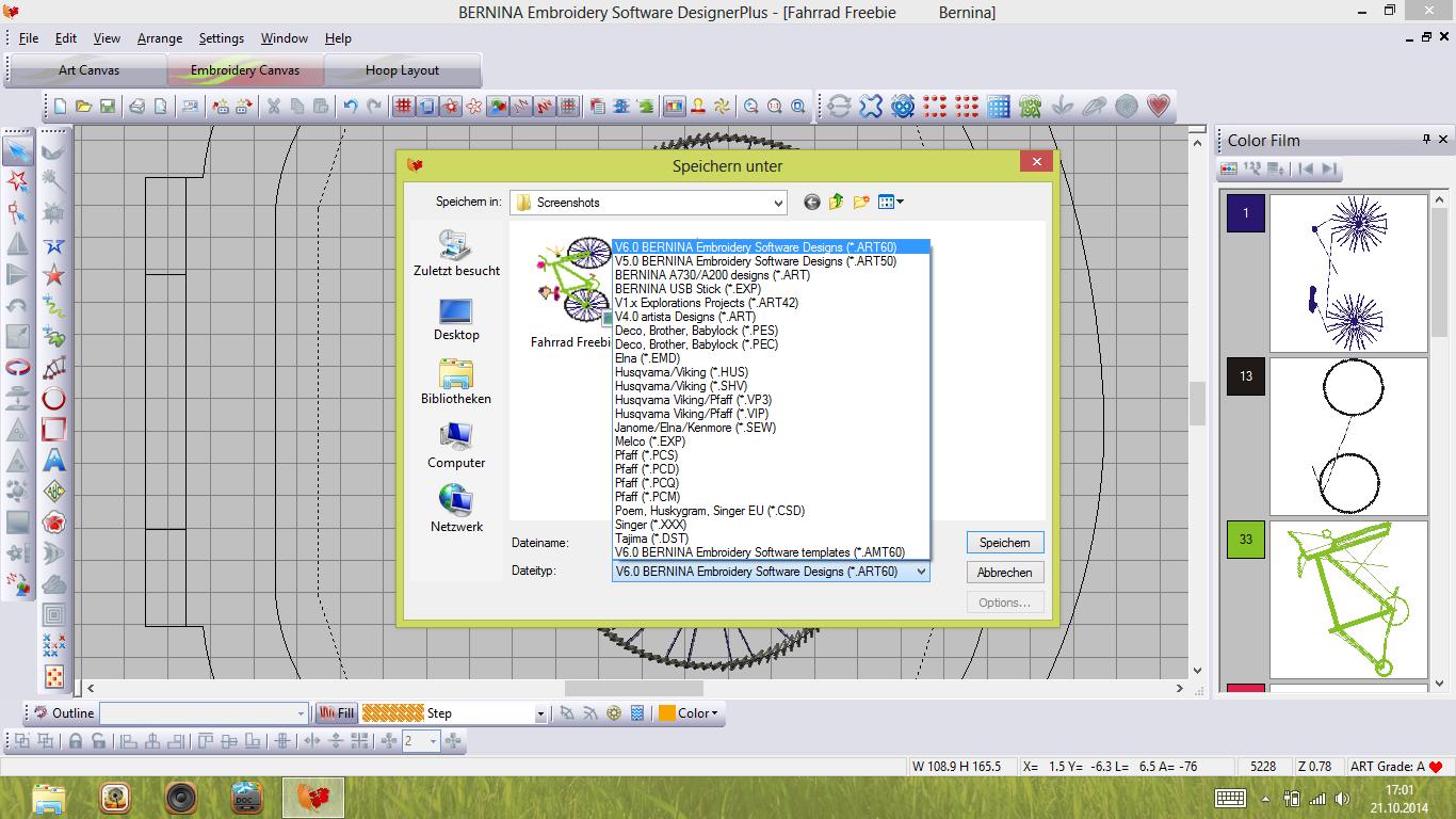 roetsch Bernina V6 Dateiformate