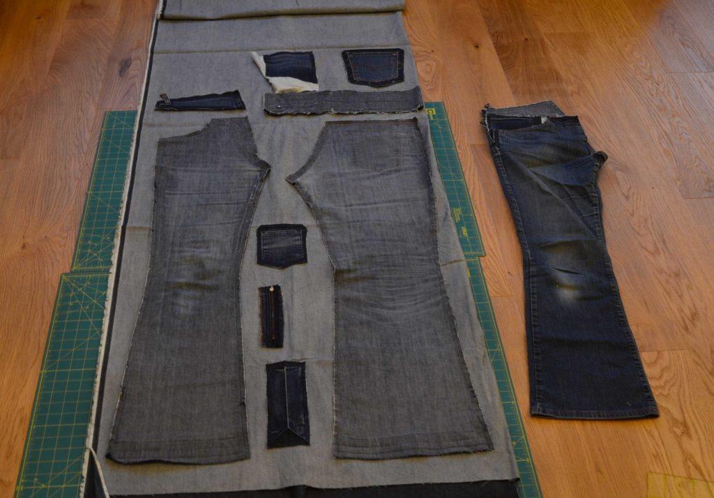 Alte Jeans. Alte Jeans. Alte Jeans Am Herd. Mit Hilfe Der Schablone ...
