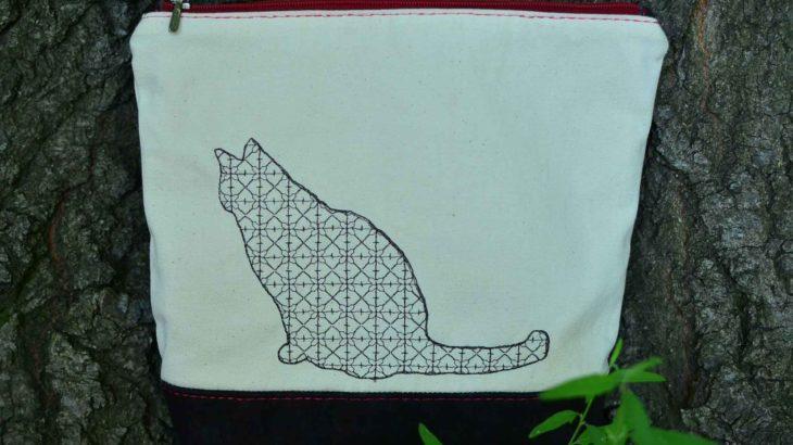 roetsch-Katzen-Stickerei-auf-Leinwand-Kork-Taeschchen